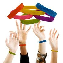 Toy Cubby Colorful Motivational Rubber Bracelet- 2 Dozen