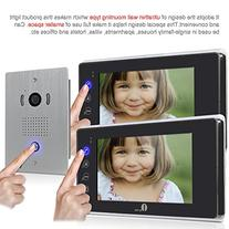1byone VP-0389 LCD Touch Screen Video Doorbell Monitor, 7-