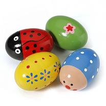 4 Pack Colorful Wooden Egg Baby Kids Children Toy Music