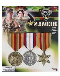 Combat Hero Costume Medals 3 Per Set
