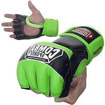 Ringside Combat Sports Pro Style MMA Gloves, Neon Green,