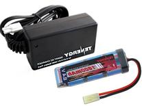 Combo: Tenergy 8.4V 1600mAh Flat NiMH Airsoft Battery Pack+