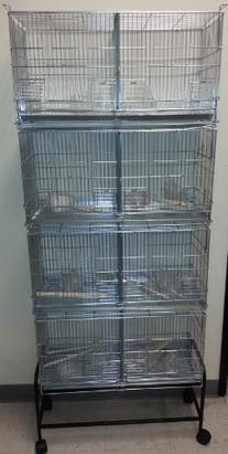 COMBO: LARGE Stack and Lock Double Breeder Cage Bird