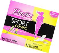 Playtex Sport Combo Pack Tampons & Pads, Regular/Super, 32