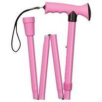 HealthSmart Comfort Grip Folding Canes, Aluminum, Pink, 33-