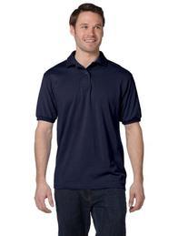 Hanes ComfortBlend EcoSmart Jersey Knit Polo Shirt, Deep Royal, XXXX-Large