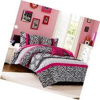 Comforter Bed Set Teen Kids Girls Pink Black White Animal