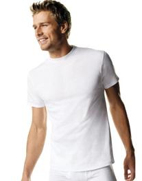 Hanes mens Big Man's Crewneck T-Shirt 3-Pack-White-2XL