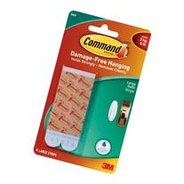Command Large Refill Strips, Blue, 4 Strips, 17605B