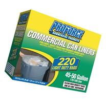 ProForce Commercial Trash Can Liners, Light Duty, 45-50