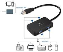 iXCC 4 Port Compact Portable High Speed USB 3.0 Data Hub for