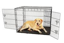 Carlson Compact and Secure Double Door Metal Dog Crate,