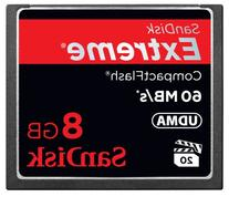 SanDisk Extreme 8GB CompactFlash Memory Card Speed Up To