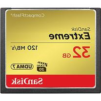 SanDisk Extreme 32GB Compact Flash Memory Card UDMA 7 Speed