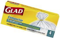 Glad Compactor Kitchen Trash Bags, 18 Gallon, 4 Count