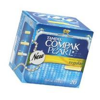 Tampax Compak Pearl Regular Absorbancy Plastic Tampons - 20