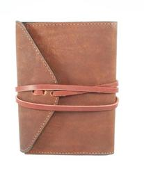 Leather Companion Journal with Wraparound Strap to Close,