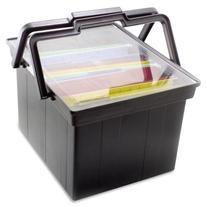 Companion Portable File Storage Box, Legal/Letter, Plastic,