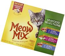 MEOW MIX COMPANY 799600 Tender Favorites Seafood Variety, 24