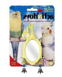JW Pet Company Activitoy Fancy Mirror Small Bird Toy, Colors