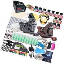 Complete Tattoo Kit 2 Machine Gun 10 Color Inks Power Supply