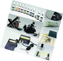 Complete Tattoo Kit Machine Gun 11 Color  Inks + Needles +