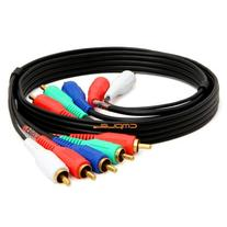 Cmple - Component Video Audio Cable 5-RCA Gold HDTV RGB