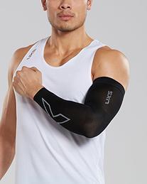 2XU Compression Flex Arm Sleeve - Small - Black/Grey