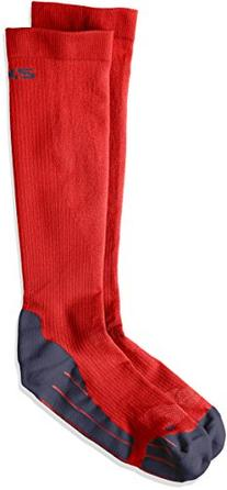 2XU Men's Compression Performance Run Socks, Red/Grey, Large