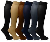 Dr Motion Ladies 6 Pair Pack Compression Socks
