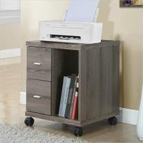 Monarch Computer Printer Stand with Castors in Dark Taupe