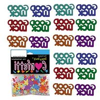 Confetti Word Good Luck MultiColor Mix - 4 Half Oz Pouches