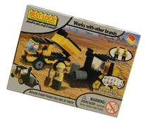 Best-Lock Construction Toys Dump Truck and Tractor