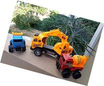 Construction Vehicles Set Dumper & Cement Truck & Big