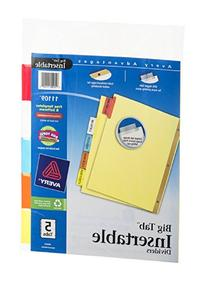 Avery Consumer Products Big Tab Insertable Dividers,11 in.