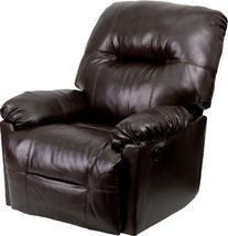 Flash Furniture Contemporary Bentley Brown Leather Chaise