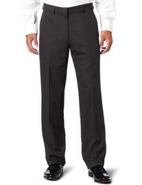 Haggar Men's Cool 18 Straight Fit Gabardine Plain Front