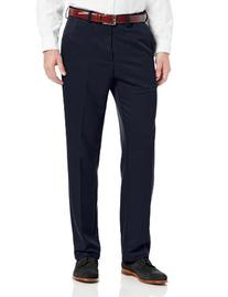 Haggar Men's Cool 18 Straight Fit Plain Front Solid