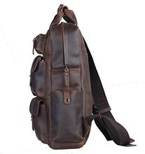 Polare Cool Cowhide Leather Multiple Laptop Backpack Day