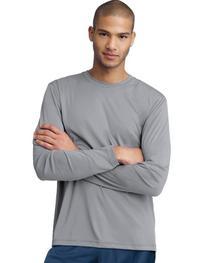 Hanes Cool DRI'Performance mens Long-Sleeve T-Shirt,Graphite