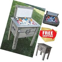 Cooler On Stand,Barn Board Country Cooler,Wooden Cooler Box,