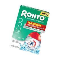 Rohto Cooling Eye Drops Maximum Redness Relief, 0.4 fl