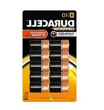 Duracell Coppertop Alkaline Batteries D 10 pack