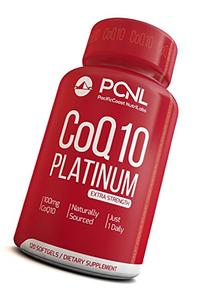 PacificCoast NutriLabs 100mg Coq10, Pure Coenzyme Ubiquinone