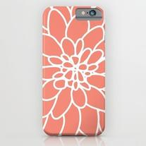 Coral Modern Dahlia Flower iPhone 6s Case