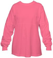 Coral Pink Pom Pom Pullover Shirt for Women, Small