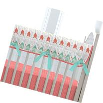 Carousel Designs Coral and Teal Arrow Crib Rail Cover