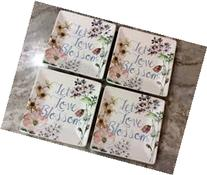 222 Fifth Coraline Let Love Blossom Appetizer Plates Set of