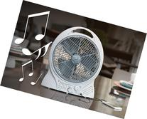 Cordless Radio Fan With MP3 Input