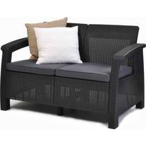 Keter Corfu Love Seat All Weather Outdoor Furniture w/